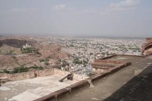 Udsigt fra fortet i Jodhpur